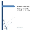 Texas 6th Grade Pacing Calendar