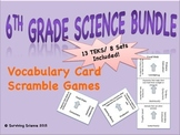 6th Grade Science Bundle: Vocabulary Scramble Games