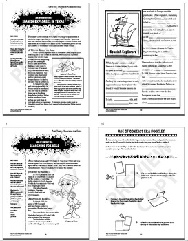 Age of Contact Era – 7th Grade Texas History Interactive Notebook Unit
