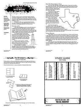 Age of Oil Era – 7th Grade Texas History (Texas Oil Boom – World War II)