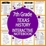 7th Grade Texas History Interactive Notebook Bundle