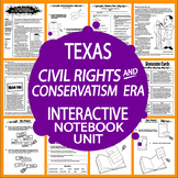 Civil Rights and Conservatism Era – 7th Grade Texas History Interactive Notebook