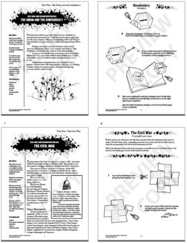 Civil War and Reconstruction Era – 7th Grade Texas History Interactive Notebook