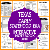 Texas Early Statehood Era–7th Grade Texas History–Texas Statehood & Mexican War