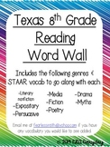 Texas 8th Grade Reading Word Wall
