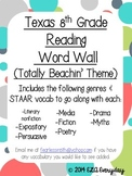 Texas 8th Grade Reading Word Wall {Totally Beachin Theme}