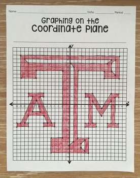 Texas A & M Aggies (Coordinate Graphing Activity)