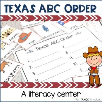 Texas Symbols ABC Order