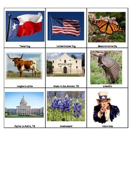 Texas American Symbols Celebrate Freedom Constitution Day