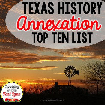 Texas Annexation Top Ten List