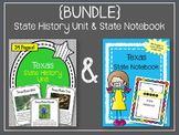 Texas {BUNDLE} State Notebook and Texas State History Unit. U.S. History