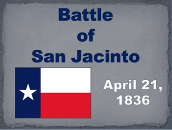Texas: Battle of San Jacinto