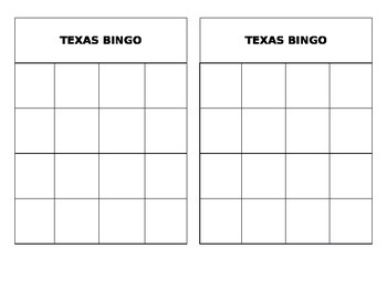 Texas Bingo Game