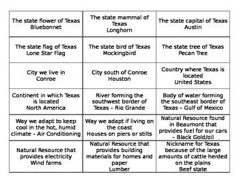 Texas Bingo Game
