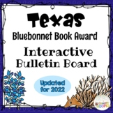 Texas Bluebonnet Award Interactive QR Bulletin Board - Upd