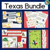 Texas Bundle: Reading, Game Board and State Symbols Bingo