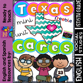 Texas Cares - Hurricane Harvey and  Consequences + Reflection - FREE Mini Unit