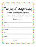 28 Texas-Categories! (Scattergories for Texas History) Worksheets