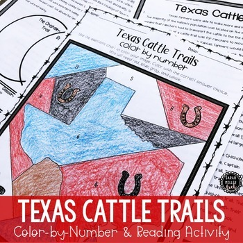 Texas Cattle Trails Activity (SS5H1, SS5H1a)