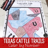 Texas Cattle Trails Color by Number Activity (SS5H1, SS5H1a)