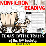 Texas Cattle Trails Reading and Writing Activity (SS5H1, SS5H1a)