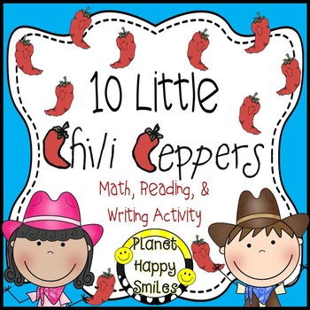 Texas Chili Pepper Activity ~ Math, Reading and Writing Activities
