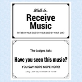 Texas Choral UIL Sight Reading Procedures Flash Cards
