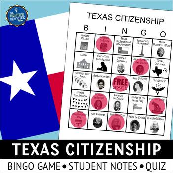 Texas Citizenship Bingo