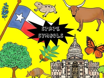 Texas Color Clip Art - Including State Symbols  - Personal and Commercial use