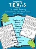 Texas Coastal Plains Summary and Main Idea Reading Passage
