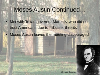 Texas Colonies and Stephen F. Austin
