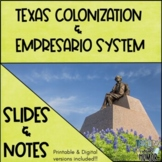 Texas Colonization & Empresario System Slides & Notes!