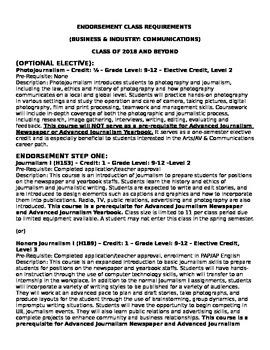 Texas Communication Endorsement Course Requirements