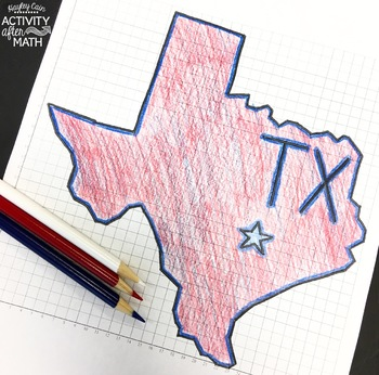 Texas Coordinate Graphing Mystery Picture(First Quadrant & ALL Four Quadrants)
