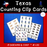 Texas Counting Clip Cards