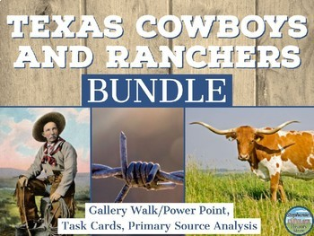 Texas Cowboys and Cattle Ranching BUNDLE