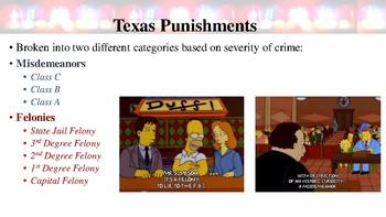 Texas Crimes & Punishments Notes