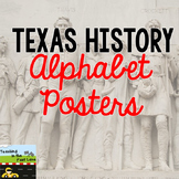Texas Cursive Alphabet Poster Set