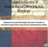 Texas Declaration of Independence: Differentiated Reading