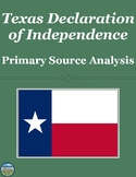 Texas Declaration of Independence Primary Source Analysis