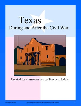 Texas During and After the Civil War