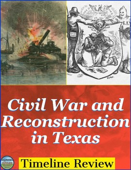 Texas During the Civil War and Reconstruction Timeline Review