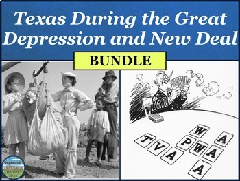 Texas During the Great Depression and New Deal BUNDLE