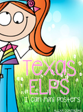 Texas ELPS I Can Mini Posters