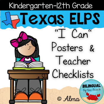 """Texas ELPS """"I Can"""" Posters and Teacher Checklists"""