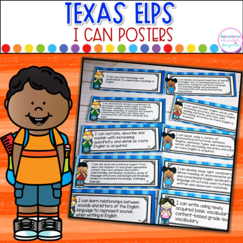 Texas ELPS- I Can Posters