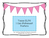 """Texas ELPS """"I Can"""" Posters"""