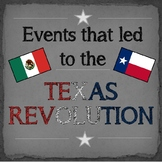 Texas: Events that led to the Texas Revolution