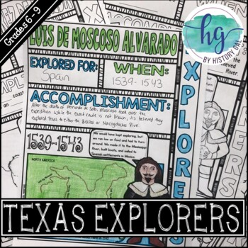 Texas Explorers Doodle Notes Expansion Pack