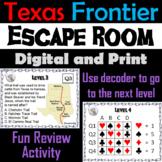 Texas Frontier Activity: Escape Room Social Studies